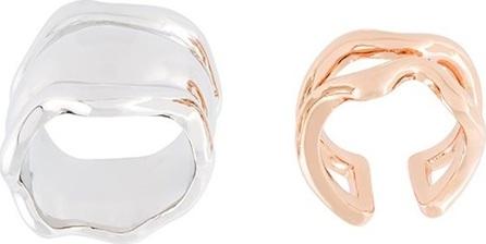 Eshvi set of two wavy motif rings