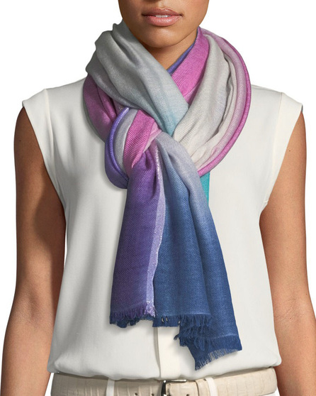Loro Piana Summer Sunset Cashmere-Blend Stole