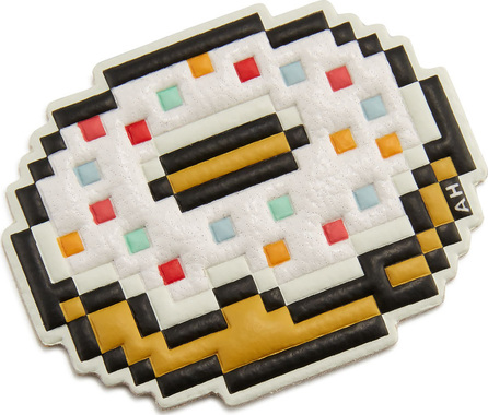 Anya Hindmarch Pixel Doughnut Sticker for Handbag, White