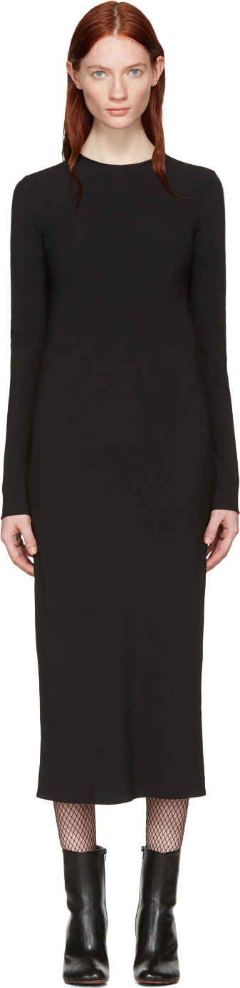 Haider Ackermann Black Bias Dress