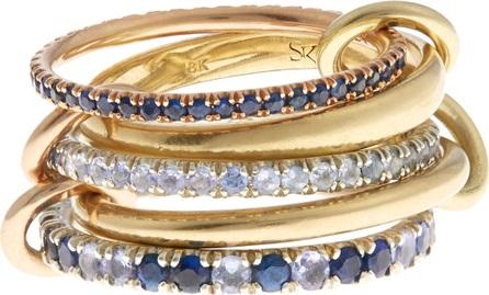 Spinelli Kilcollin Atlas sapphire, tanzanite, silver & gold ring