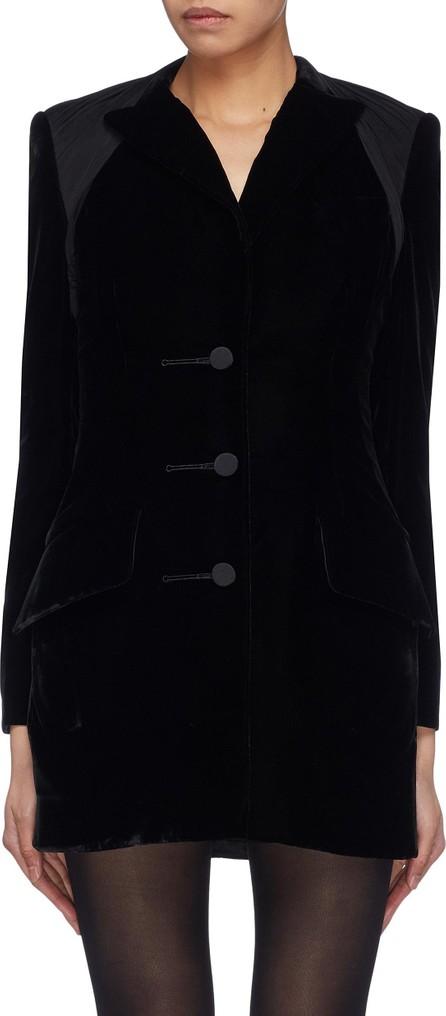 Alexander Wang Drape yoke velvet tuxedo dress