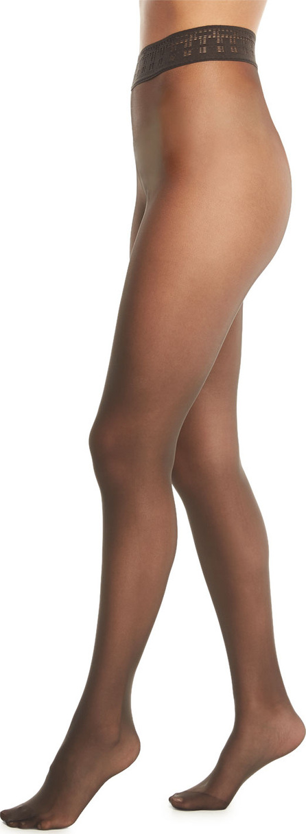 Wolford Fatal 15 Matte Sheer Tights with Adjustable Waistband