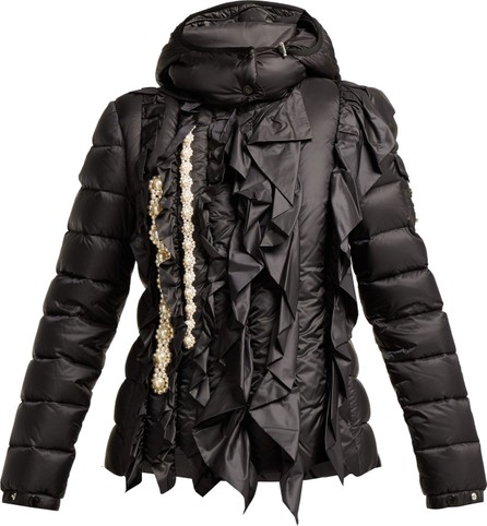 4 Moncler Simone Rocha Darcy ruffle and pearl quilted-down jacket