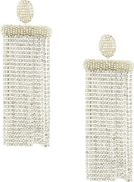 Oscar De La Renta beaded waterfall earrings