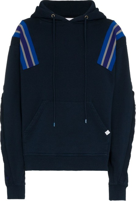FACETASM Striped Shoulder Hoodie