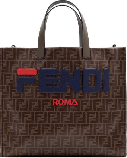 Fendi Fendi Runway Collection Regular Calf and Canvas Tote Bag
