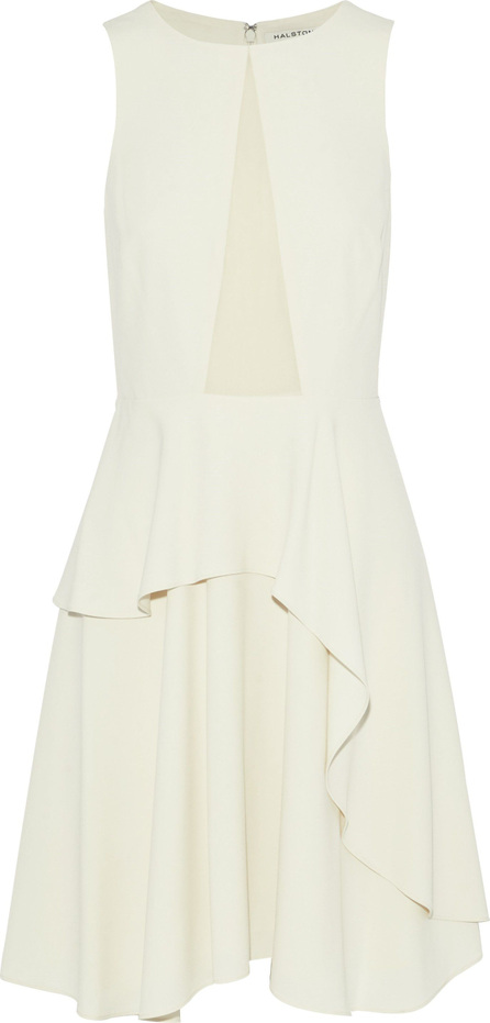 HALSTON HERITAGE Layered paneled crepe dress