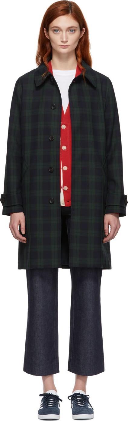 A.P.C. Green & Navy Dinard Coat