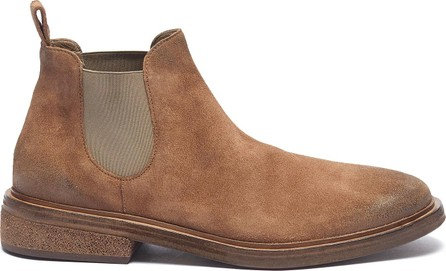 Marsell Concrete-effect heel distressed suede Chelsea boots