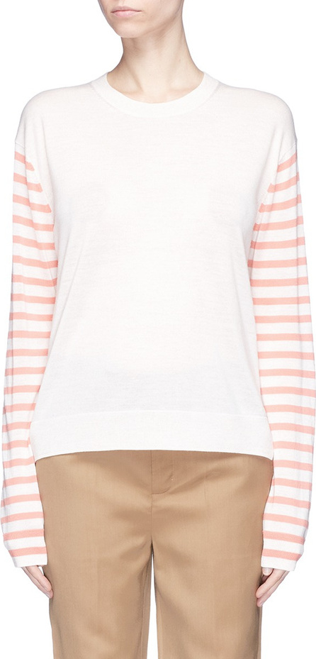 Acne Studios 'Cohrie' stripe sleeve Merino wool sweater