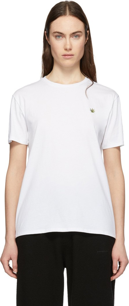 6397 White Embroidered Leaf Boy T-Shirt