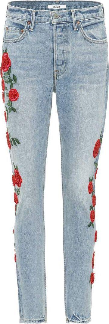 Grlfrnd Karolina embroidered jeans
