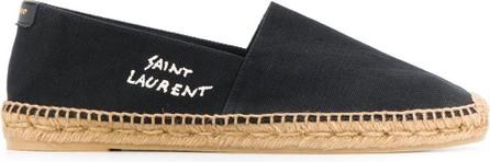 Saint Laurent Embroidered logo espadrilles
