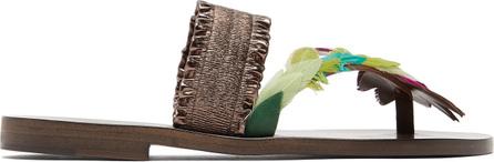 Álvaro Alberta feather-embellished sandals