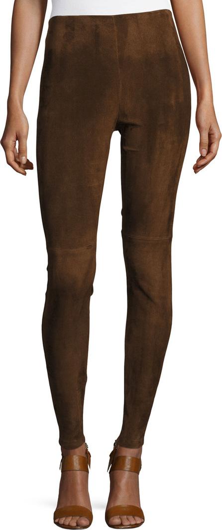 Ralph Lauren Eleanora Suede Leggings, Brown