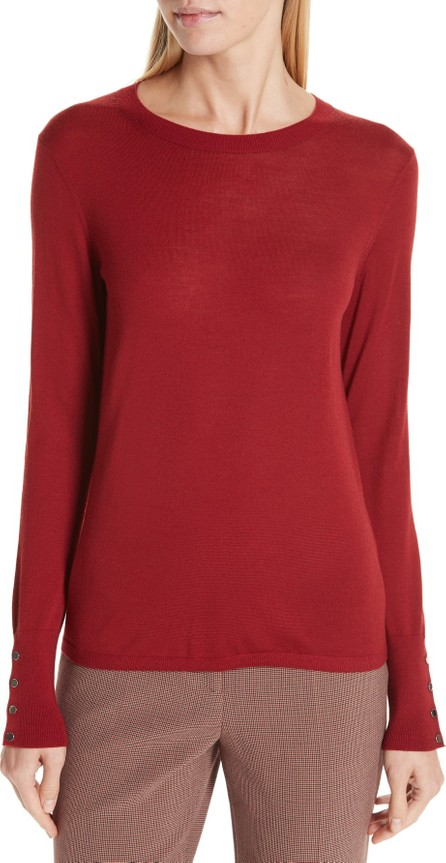 BOSS Hugo Boss Frankie Cuff Detail Wool Sweater