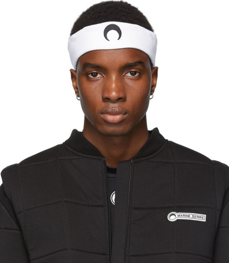 Marine Serre White & Black Moon Headband
