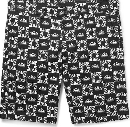 Dolce & Gabbana Slim-Fit Printed Denim Shorts