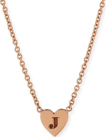Zoe Chicco 14K Tiny Heart Initial Pendant Necklace