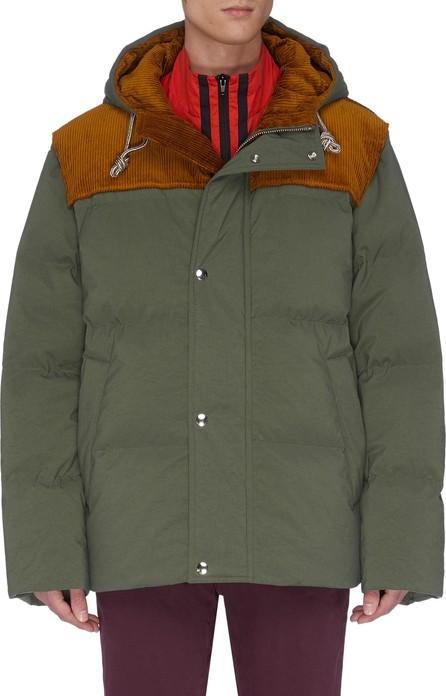 Acne Studios 'Orfeo' corduroy panel hooded padded puffer jacket