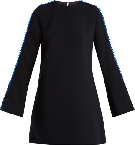Galvan Misti pompom-trimmed crepe mini dress