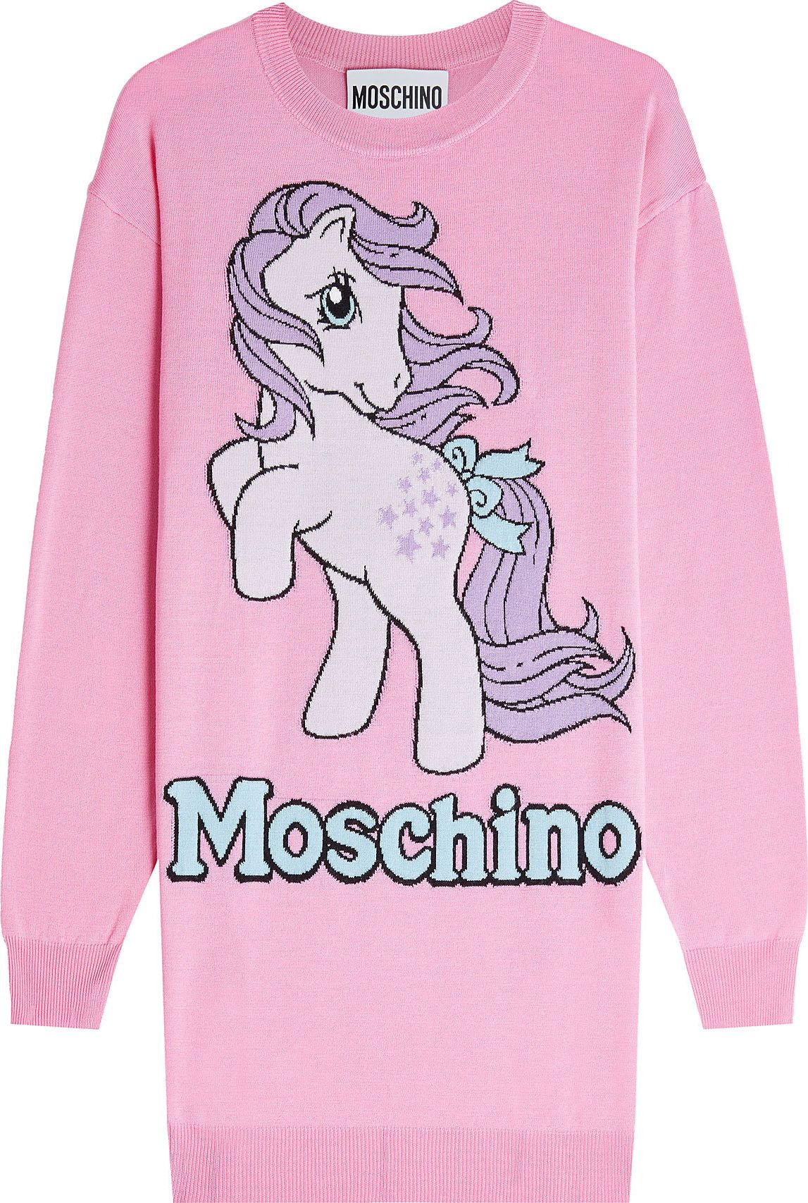 Moschino - Printed Wool Pullover