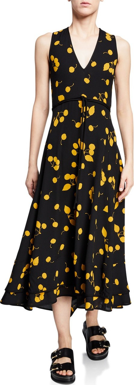 3.1 Phillip Lim Cherry-Print Sleeveless Maxi Dress
