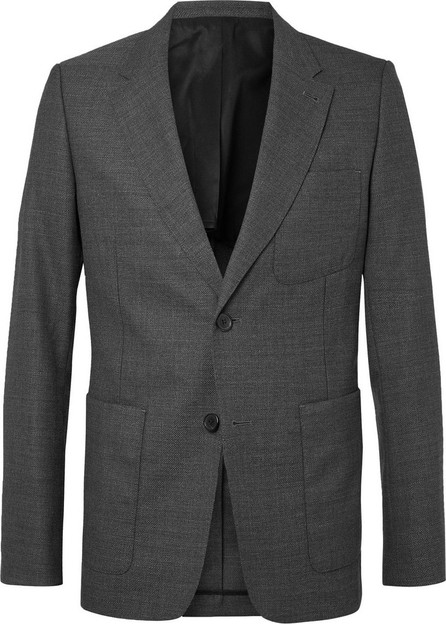 AMI Grey Slim-Fit Unstructured Wool Suit Jacket