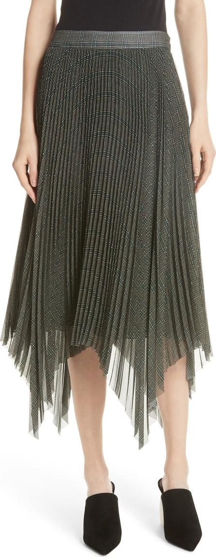 GREY Jason Wu Plaid Pleated Skirt