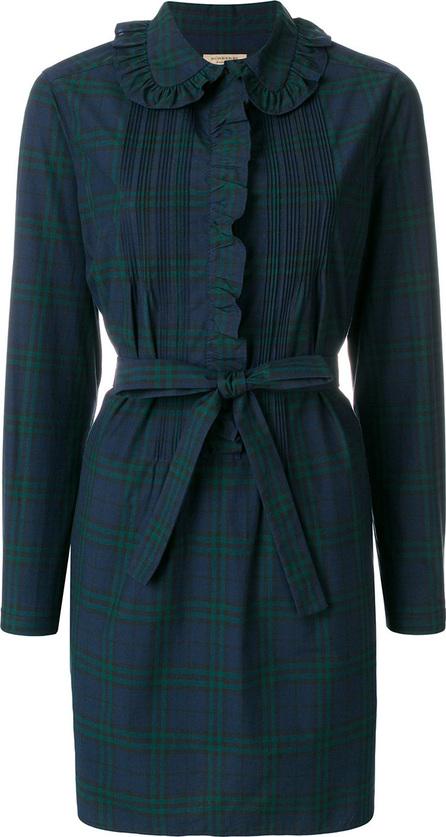 Burberry London England Ruffle trim shirt dress