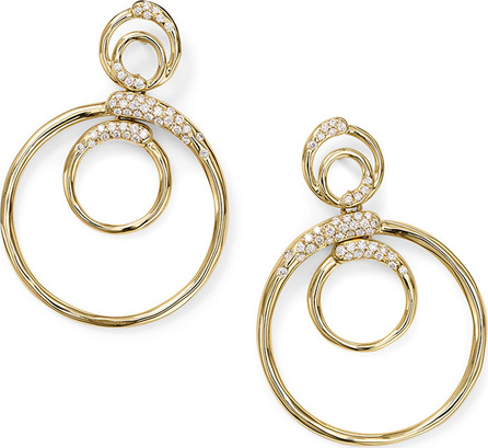 IPPOLITA 18k Gold Stardust Triple Circle Snowman Earrings w/ Diamonds