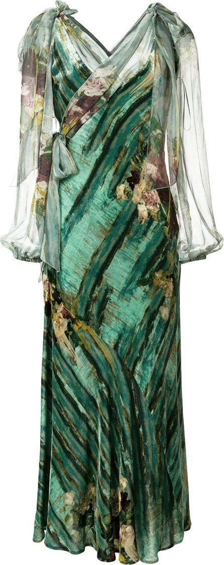 Alberta Ferretti abstract floral dress