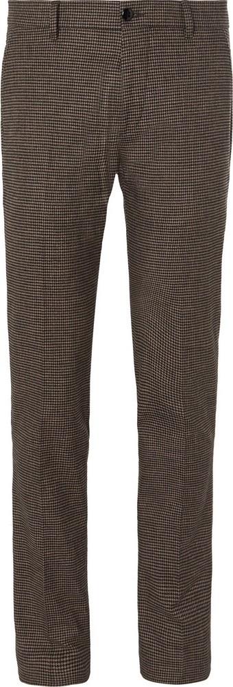 Bellerose Porths Slim-Fit Puppytooth Cotton-Blend Trousers