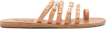 Ancient Greek Sandals Niki shell-embellished leather sandals