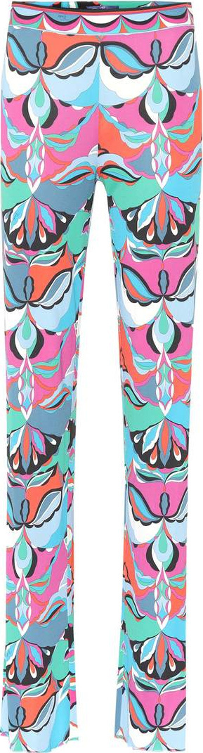 Emilio Pucci Printed silk-blend pants