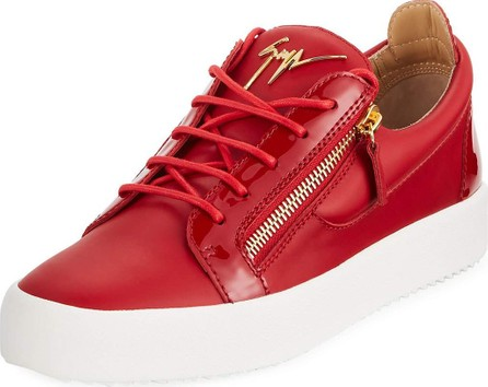 Giuseppe Zanotti Men's London Double-Zip Leather Low-Top Sneakers