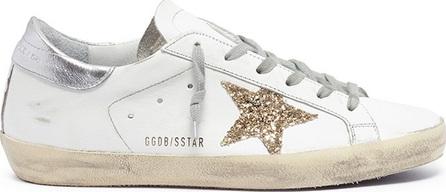 Golden Goose Deluxe Brand 'Superstar' glitter star leather sneakers