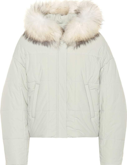 Fur-trimmed puffer jacket