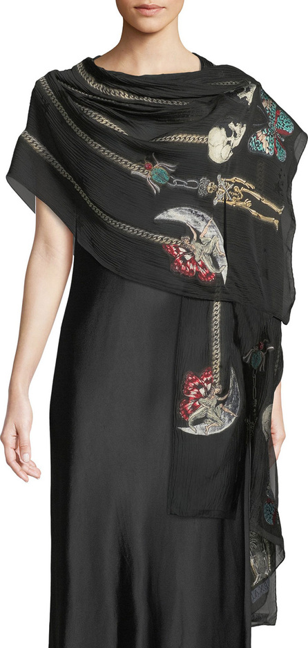 Alexander McQueen Heirloom Pins Silk-Blend Shawl