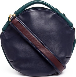 A-Esque 'Petal Miniature' colourblock leather bag