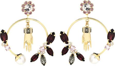 Erdem Embellished hoop earrings