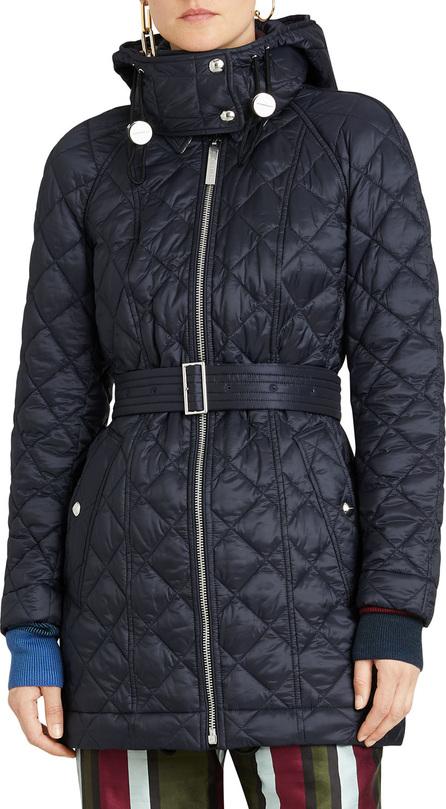 Burberry London England Lightweight Diamond Quilted Coat w/ Detachable Hood