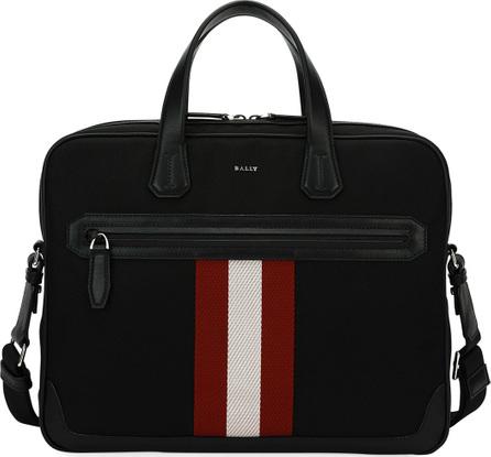 Bally Chandos Leather-Trim Briefcase