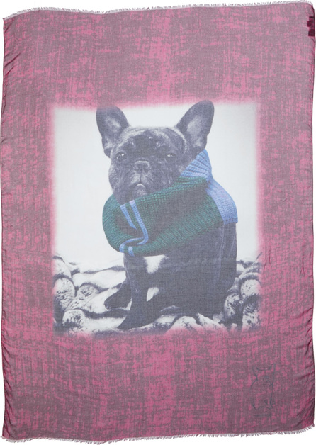 Yigal Azrouel Cozy Jagger Print Modal & Cashmere Scarf