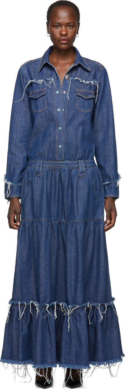 Alanui Blue Denim Dress