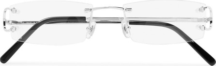 Cartier Frameless Silver-Tone Optical Glasses