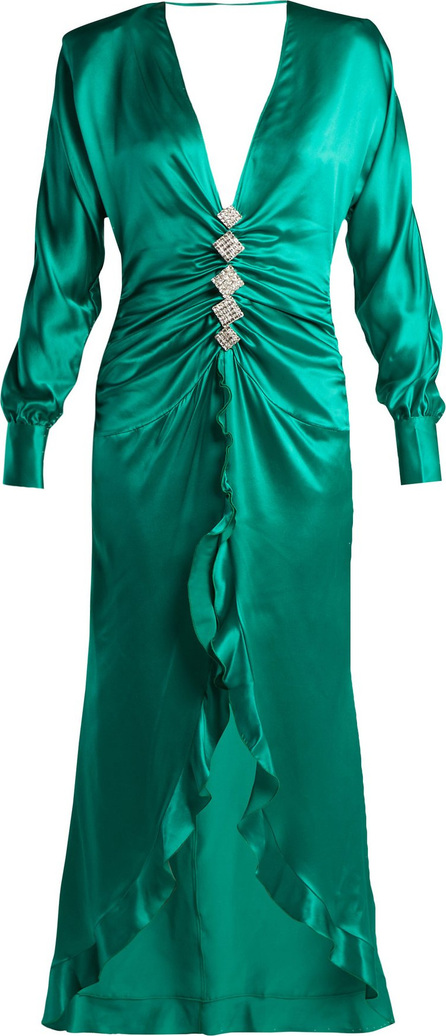 Alessandra Rich Crystal-embellished silk-satin dress
