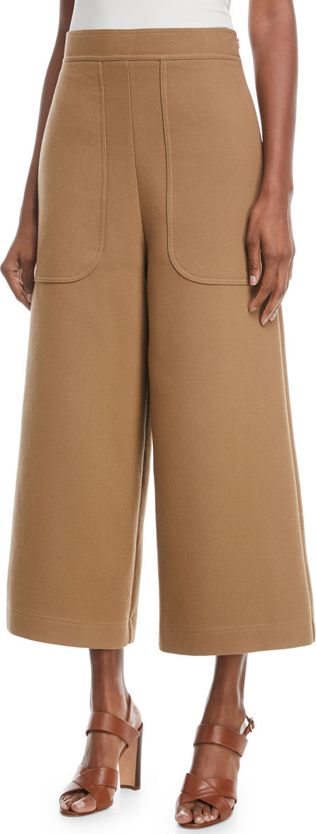 See By Chloé Cropped Cotton Wide-Leg Pants