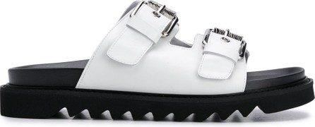 Moschino Double buckle slides